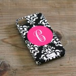 Custom+4G+Cell+Phone+Case+in+Black+Damask
