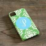Custom+4G+Cell+Phone+Case+in+Green+Damask