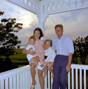 Jackie O' Wearing  Jack Rogers in a family photo