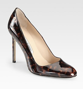 BB Tortoise Print Patent Leather Pumps