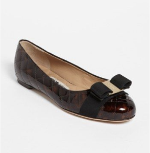 'Varina' Quilted Flat from Ferragamo