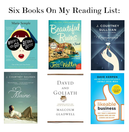 6 Books On My Reading List
