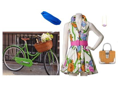 Blair Waldorf Bike Outfit
