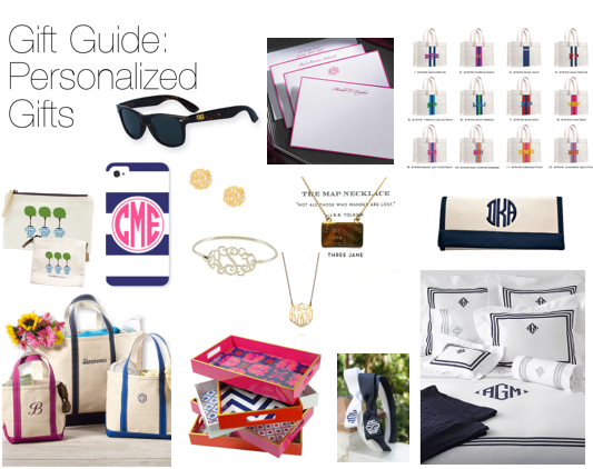 Gift Guide: Personalized Gifts