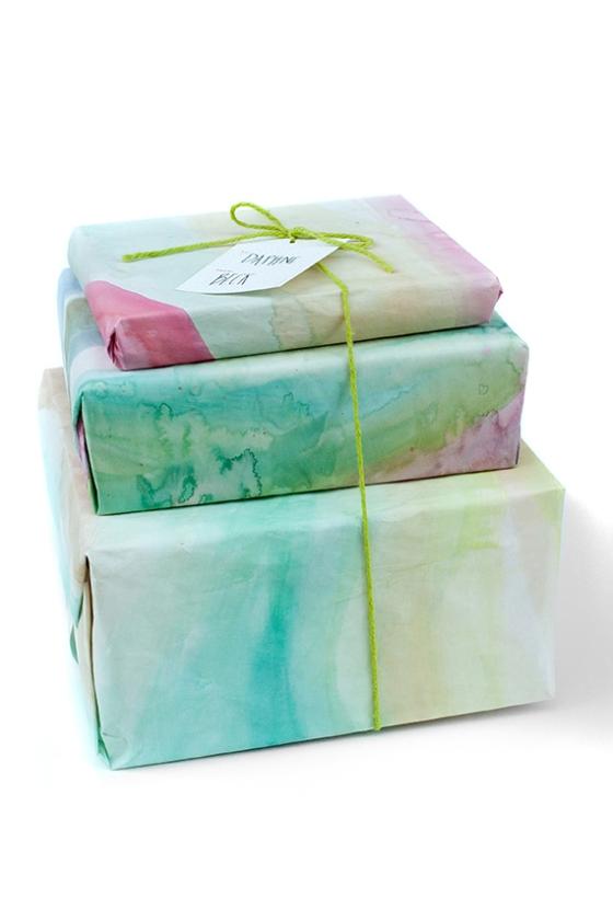 Watercolor Gift Wrap
