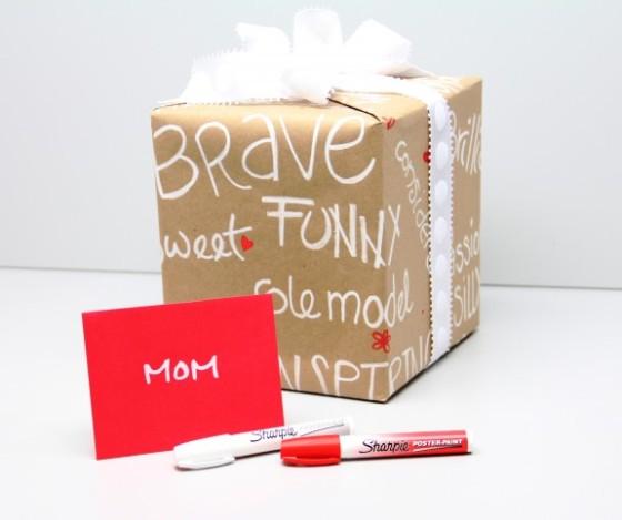 Sharpie Gift Wrap