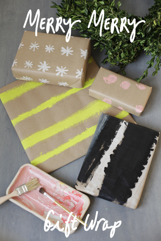 painted gift wrap