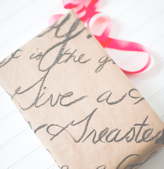 love letter wrapping paper