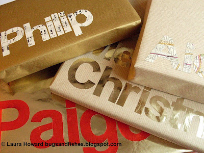 typography gift wrap