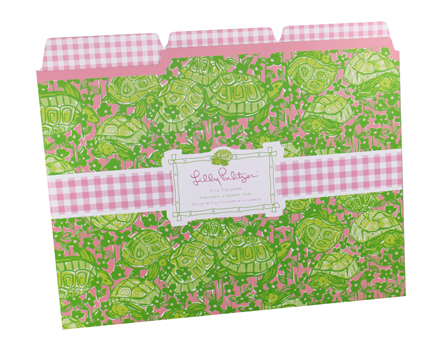 Lilly Pulitzer File Folders