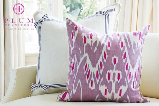 Pillows with Preppy Fabric