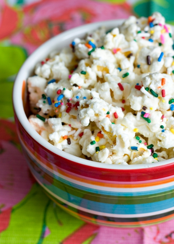 Funfetti Cake Popcorn