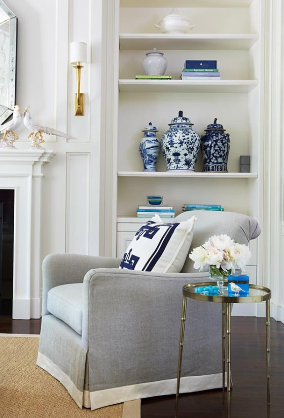Preppy Living Room Ginger Jars