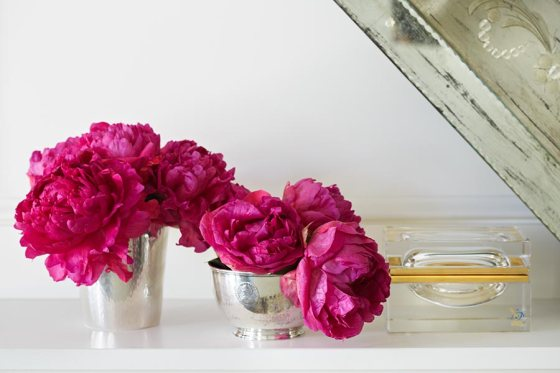 Peonies and julep cups