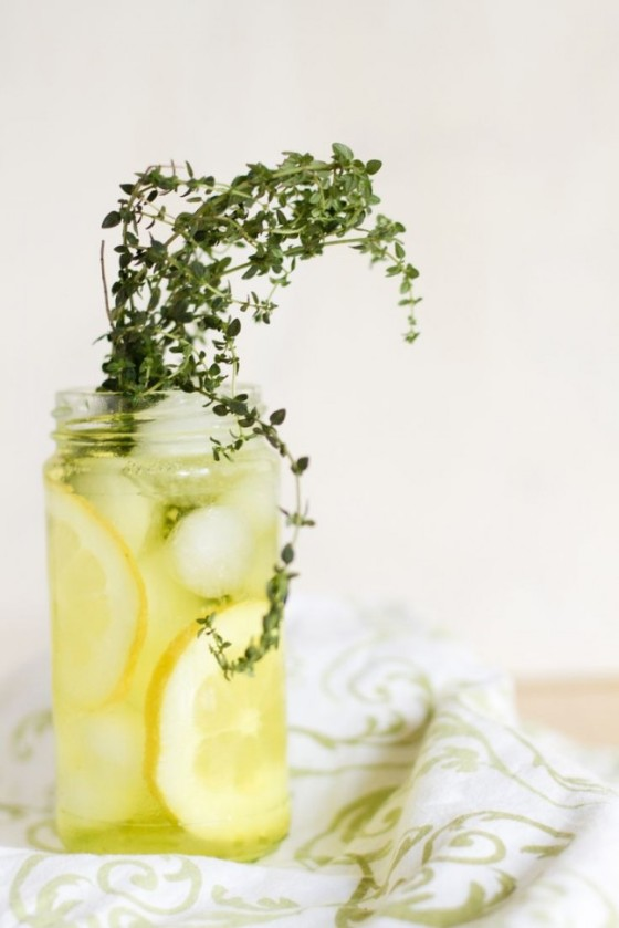 Lemon and Thyme Water