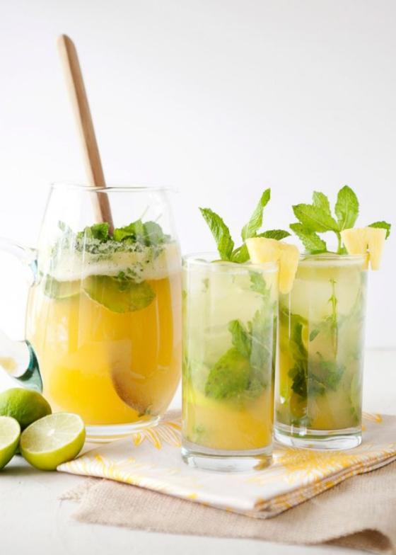 Pineapple Mint Water