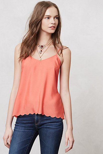 Anthropoligie-Scallop-Cami