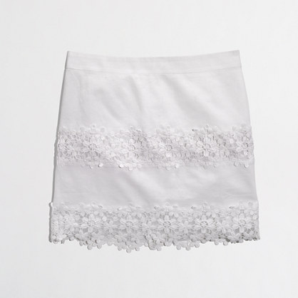 J. Crew Factory Scalloped Skirt