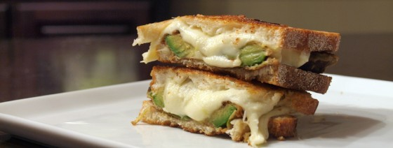 Fried Avocado and Fresh Mozzarella Grilled Cheese