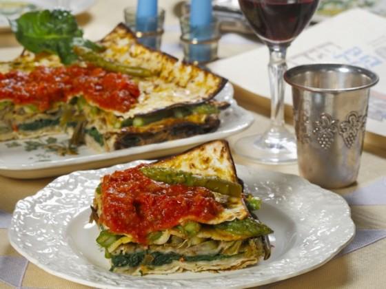 Vegetable-Matzo-Pie
