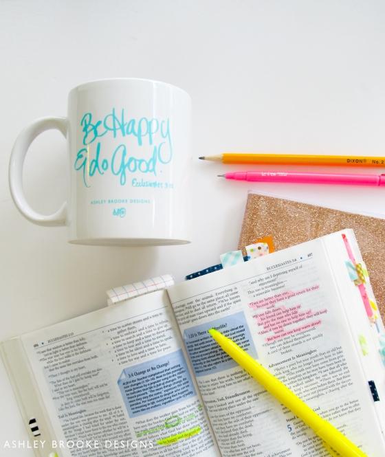 Be Happy and Do Good Mug Via Ashley Brooke Designs