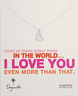 Dogeared I Love You Necklace