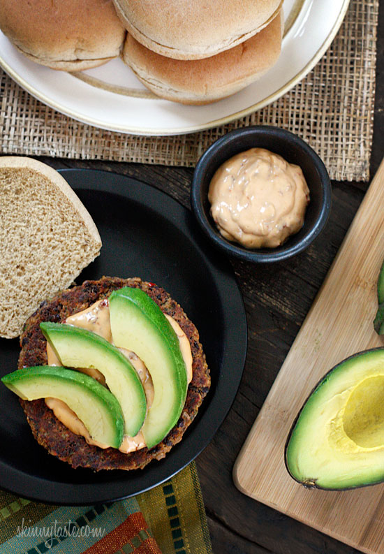 Spicy-Black-Bean-Burgers-with-Chipotle-Mayonnaise
