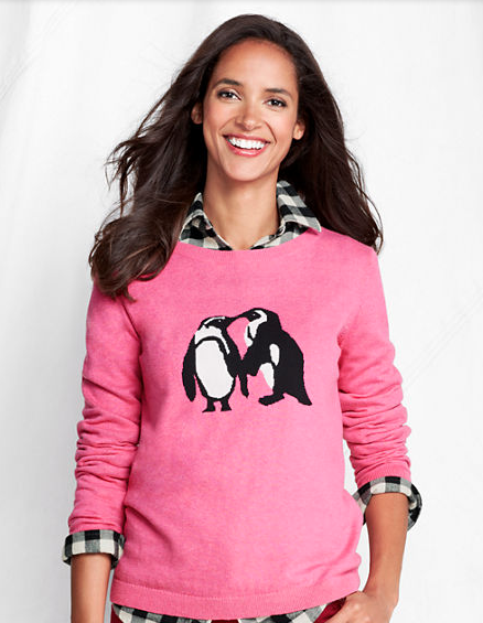 Lands' End Penguin Sweater