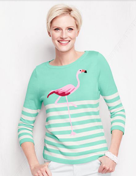 Lands' End Flamingo Sweater