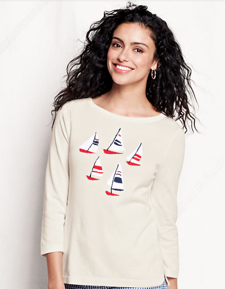 Lands' End Sailboat Sweater