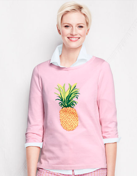 Lands' End Pineapple Sweater